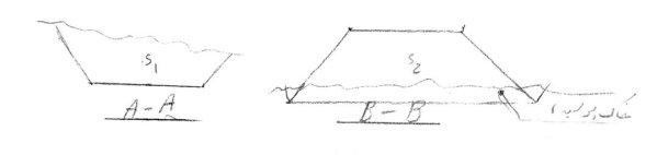 محاسبه حجم خاکبرداری و خاکریزی - کروکی ۲