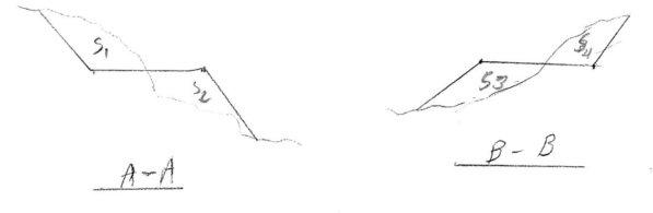 محاسبه حجم خاکبرداری و خاکریزی - کروکی ۵